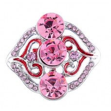 HappySnaps Jewel - 3 Crystals & Rhinestones - Pink
