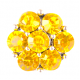 HappySnaps Jewel - 7 Crystal Flower - Yellow