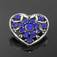 HappySnaps Jewel - Heart Flower - Blue