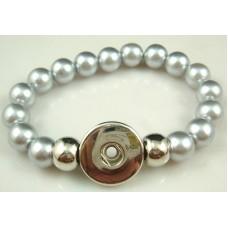 HappySnaps Stretch Bead Bracelet - Pearly Gray