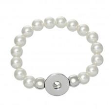 HappySnaps Stretch Bead Bracelet - Pearly White