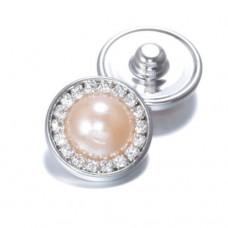 HappySnaps Jewel - Pearly Rhinestones Peach - One Snap