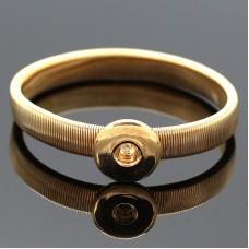HappySnaps Metal Flat Spring Snap Goldtone Bracelet