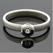 HappySnaps Metal Flat Spring Snap Silvertone Bracelet