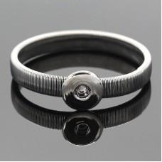 HappySnaps Metal Flat Spring Snap Graytone Bracelet