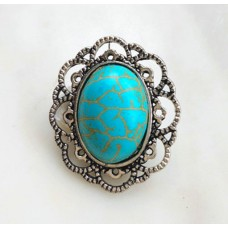 HappySnaps Jewel - Turquoise - Oval with Filagree design