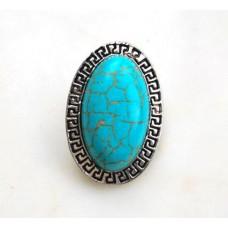 HappySnaps Jewel - Turquoise - Oval with Greek Design