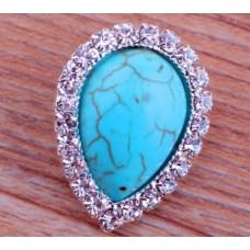HappySnaps Jewel - Turquoise - Teardrop with Rhinestone Design