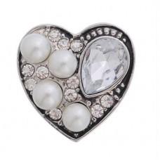 HappySnaps Jewel - Heart - White & Pearly