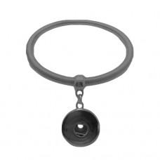 HappySnaps Metal Spring Bangle Snap Graytone Bracelet