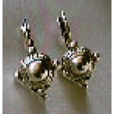 Earrings - Silvertone Shield Earrings