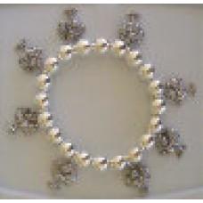 Bracelet - Silvertone Palm Tree Bracelet