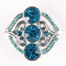 HappySnaps Jewel - 3 Crystals & Rhinestones - Teal