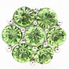HappySnaps Jewel - 7 Crystal Flower - Green