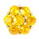 HappySnaps Jewel - 7 Crystal Flower - Yellow