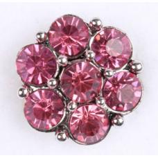 HappySnaps Jewel - 7 Crystal Flower - Pink