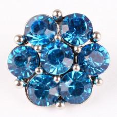 HappySnaps Jewel - 7 Crystal Flower - Blue