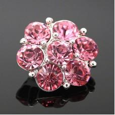HappySnaps Jewel - 7 Crystal Flower - Light Pink