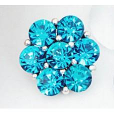 HappySnaps Jewel - 7 Crystal Flower - Blue Teal