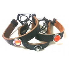 HappySnaps Special - Exclusive HappySnaps Handmade Leather Smile Bracelets for Independence Bulldog fans