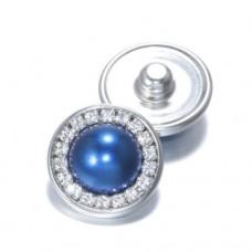 HappySnaps Jewel - Pearly Rhinestones Blue - One Snap