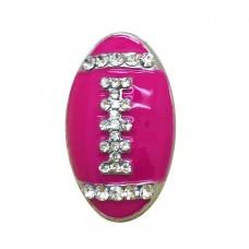 HappySnaps Jewel - Football - Hot Pink Fuschia
