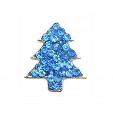 HappySnaps Jewel - Christmas Tree Snap - Blue