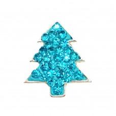 HappySnaps Jewel - Christmas Tree Snap - Teal