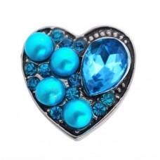 HappySnaps Jewel - Heart - Teal & Pearly