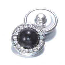 HappySnaps Jewel - Pearly Rhinestones Black - One Snap