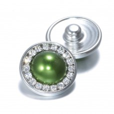 HappySnaps Jewel - Pearly Rhinestones Green - One Snap