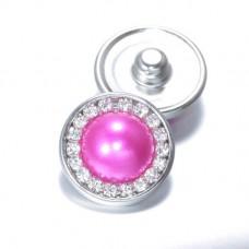 HappySnaps Jewel - Pearly Rhinestones Hot Pink Fuchsia - One Snap