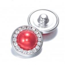 HappySnaps Jewel - Pearly Rhinestones Red - One Snap