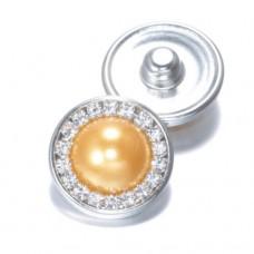 HappySnaps Jewel - Pearly Rhinestones Golden - One Snap
