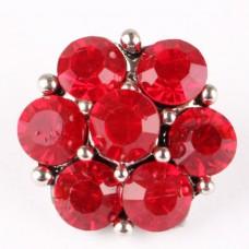 HappySnaps Jewel - 7 Crystal Flower - Red