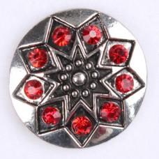 HappySnaps Jewel - Southwest Shield - Red Rhinestones