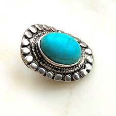 HappySnaps Jewel - Turquoise - Oval - Southwest Design with Curved Back