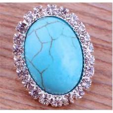 HappySnaps Jewel - Turquoise - Oval with Rhinestone Design